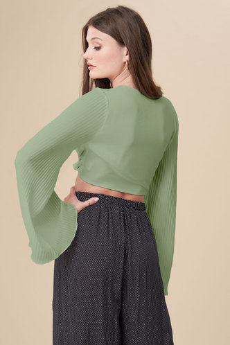 back_First Light Dusty Sage Long Sleeve Top
