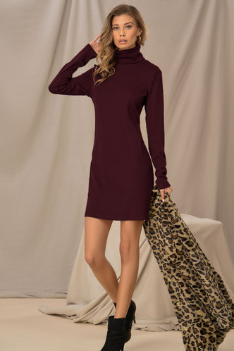 front_Like A Glove Burgundy Bodycon Dress