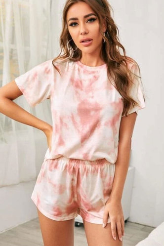 front_Esta Light Pink And Coral Loungewear Sets