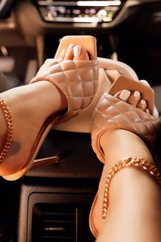 front_Isabella Enid Khaki Heeled Sandals