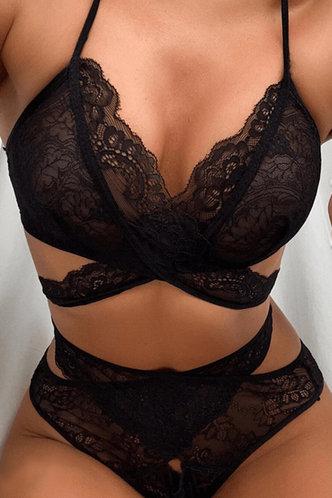 front_Eloise Elma Black Sexy Lingerie