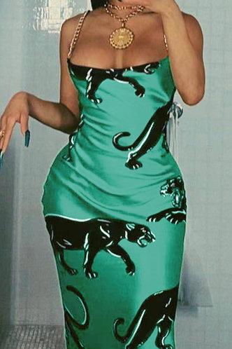 front_Roseanne Erica Cyan Slip Dress