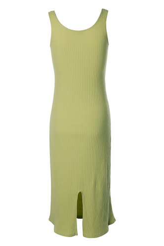 back_Fantasy Yellow Green Midi Dress