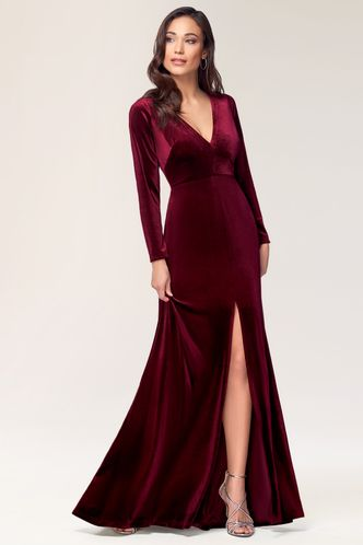 front_New Moon {Color} Velvet Maxi Dress