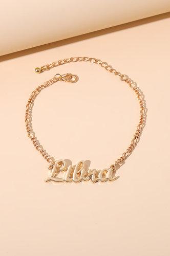 front_Frances Nomum Gold Constellation Letter Charm Bracelet