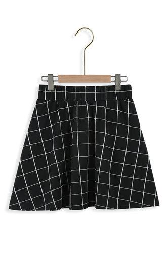 back_Not Today Black Plaid Skater Skirt