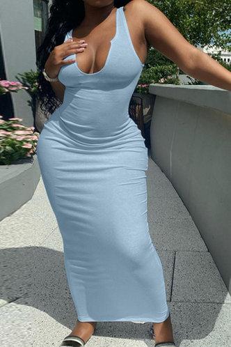 front_Athena Erica Baby Blue Plus Bodycon Dress
