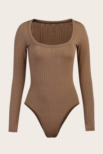 back_Selina Eden Khaki Bodysuit