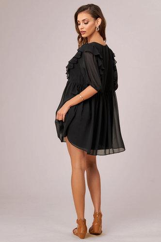 back_Moondance Black Mini Dress