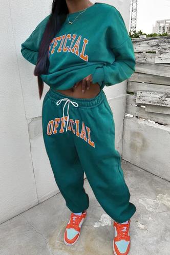 front_Adrienne Fiskan Teal Plus Size Pants Set