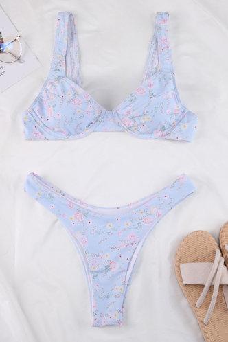 back_Viola Elaine Light Blue And Floral Print Bikini