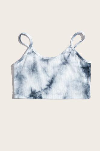 back_Ernestine Eartha Grey Tie Dye Crop Top