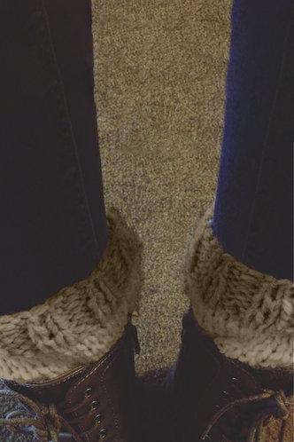 back_Plain Mocha Brown Socks & Tights