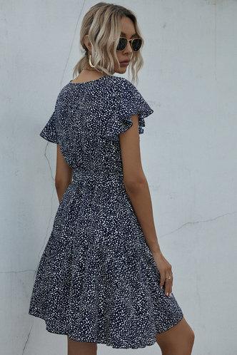 back_Tamera Blue And White Dress