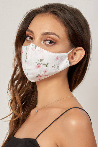 back_Non-medical Cute Pattern Cotton Reusable Face Mask Blushing Pink