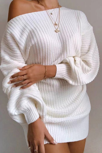 front_Stacey Eve White Off Shoulder Sweater