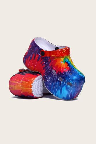 back_Beverly Homar Tie Dye Vented Clog