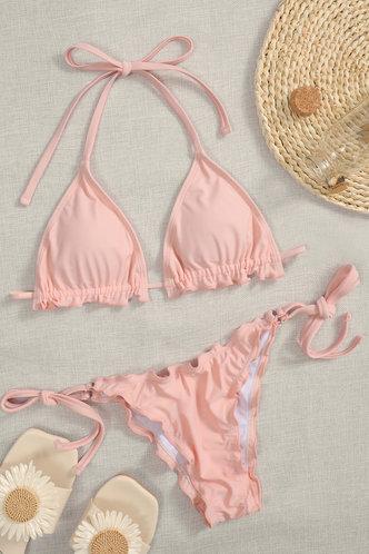 front_Etta Elaine Coral Pink Bikini