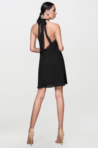 back_Frever My Love Black Mini Dress