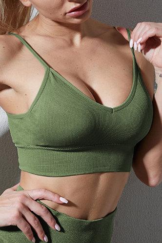 front_Valeria Eleanore Army Green Bra & Bralette