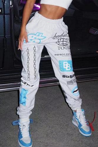 front_Edwina Oktoped Light Grey Pants