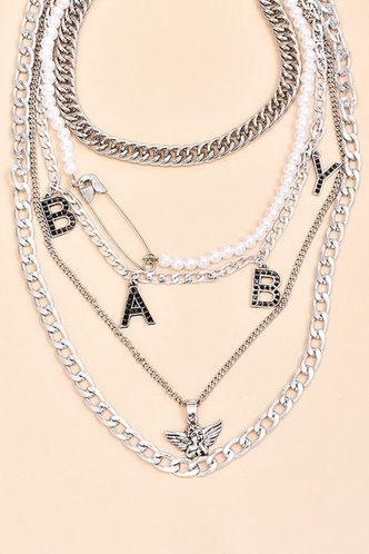 back_Gladys Flugil Silver Necklace 5pcs