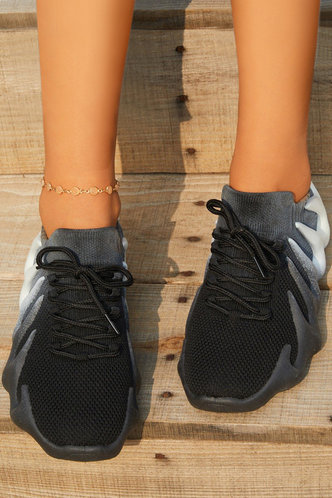 back_Holly Erin Black Sneakers