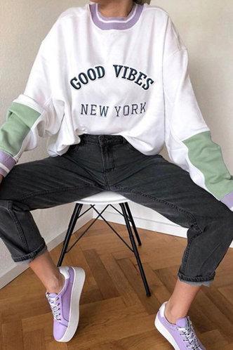 back_Blanch Eden White And Green Sweatshirt