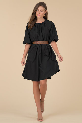 front_Nora Black Midi Dress