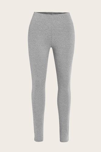 back_Plaid Stacked Mid Waist Light Grey Plus Size Leggings