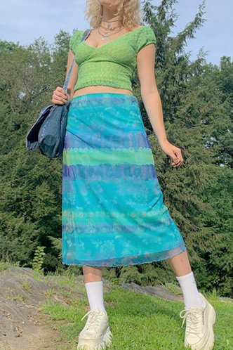 back_Joa Emma Cyan Skirt