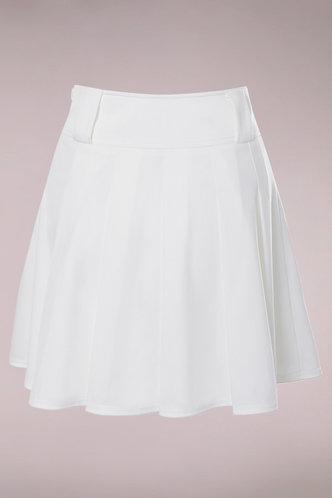 back_Aimee White Pleated Skirt