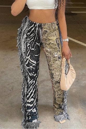 front_Christina Evangeline Multi Print Pants