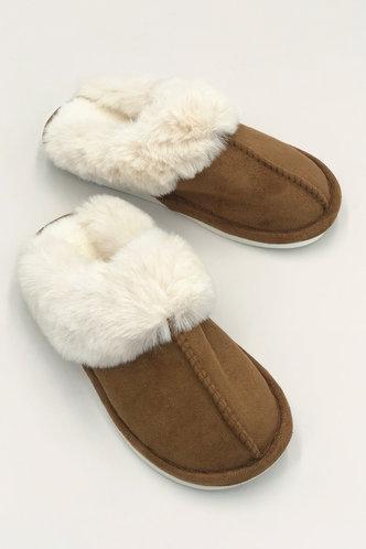 back_Wilhelmina Evangeline Khaki Plush Slippers