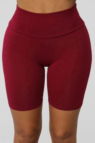front_Agatha Elizabeth Red Wine Biker Shorts