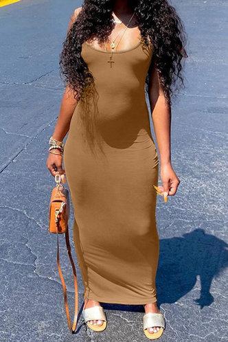 back_Evelyn Jagu Coffee Dress
