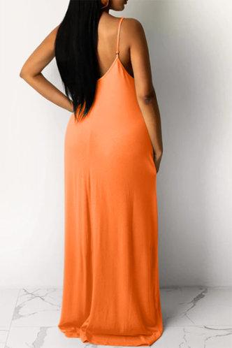back_Jean Elva Orange Dress