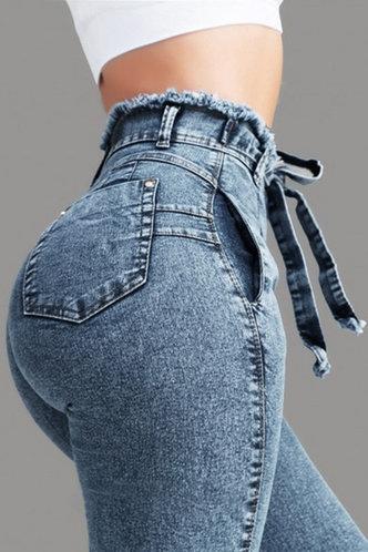 front_Martha Elaine Blue Tie Front Jeans