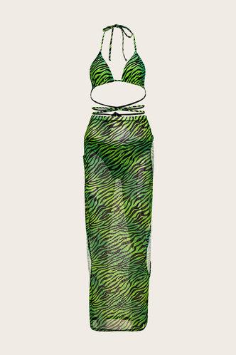 back_Rose Esther Green Zebra Print Bikini