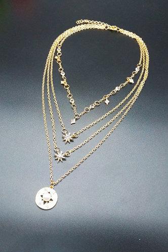 back_Erma Eleanore Gold Rhinestone Charm Layered Necklace