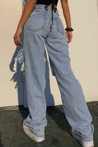 back_Marilyn Eartha Blue Ripped Knee Jeans