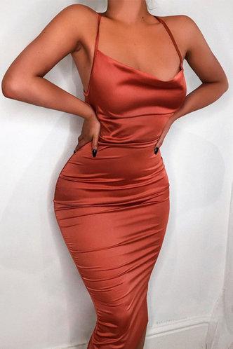 back_Britt Eartha Rust Red Tie Open Back Dress