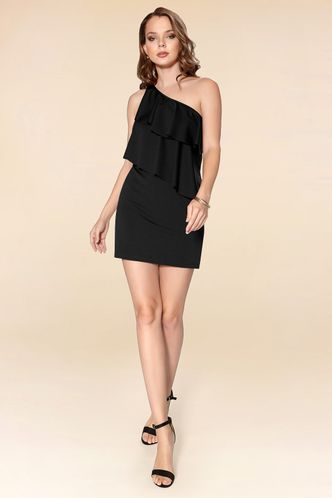 front_The Lucky One Black Mini Dress