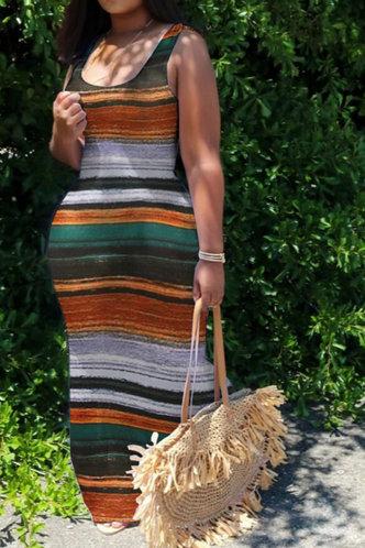 front_Dora Pilk Striped Maxi Bodycon Dress