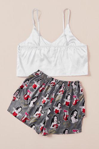back_Ella Kanjas White And Grey Loungewear Set