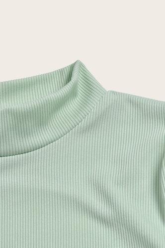 back_Plain  Mint Green Mini Dresses