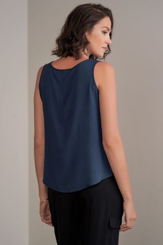 back_Swanky {Color} Sleeveless Top