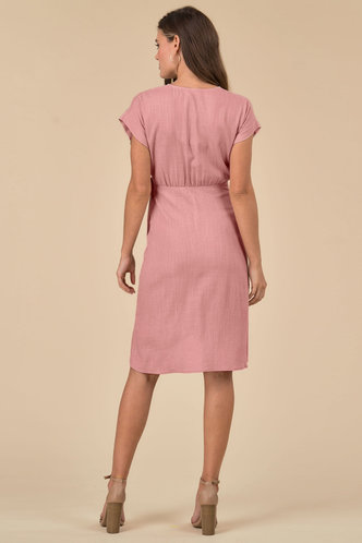 back_Sage {color} Midi Dress