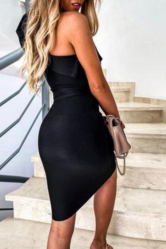 back_Deborah Gimik Black Bodycon Dress