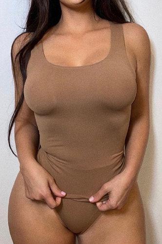 back_Gwyneth Ella Brown Bodysuit